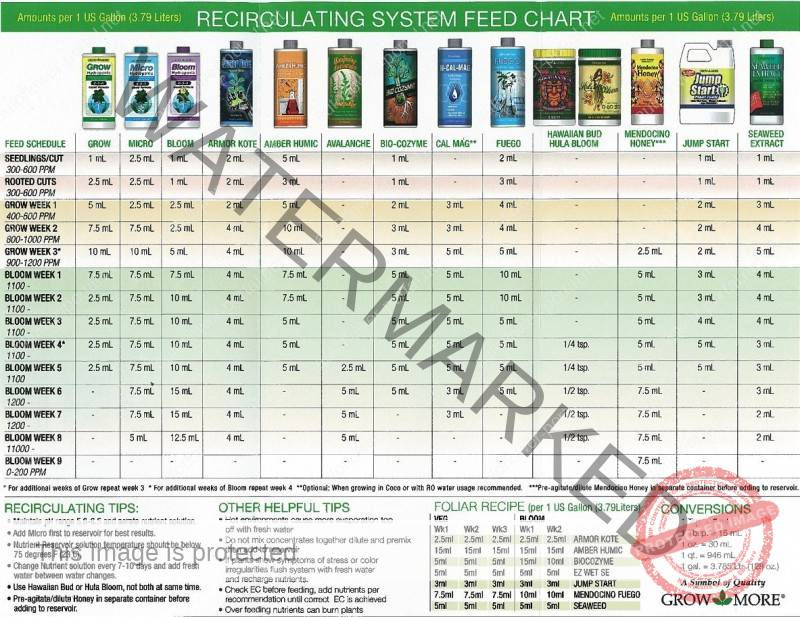 Day Of Event Production Schedule: Autoflower Feeding Schedule